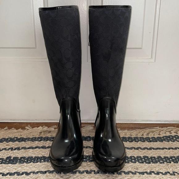 Coach rain boots